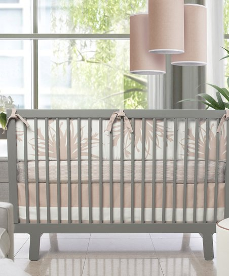 Peach Freesia Crib Bumper