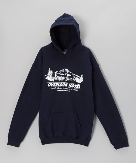 Navy 'Stay at the Overlook Hotel' Hoodie - Kids & Adults