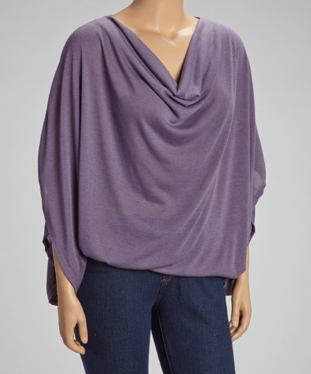 Purple Drape Top - Plus