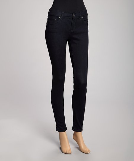 Dark Blue Five-Pocket Slim Fit Jeans