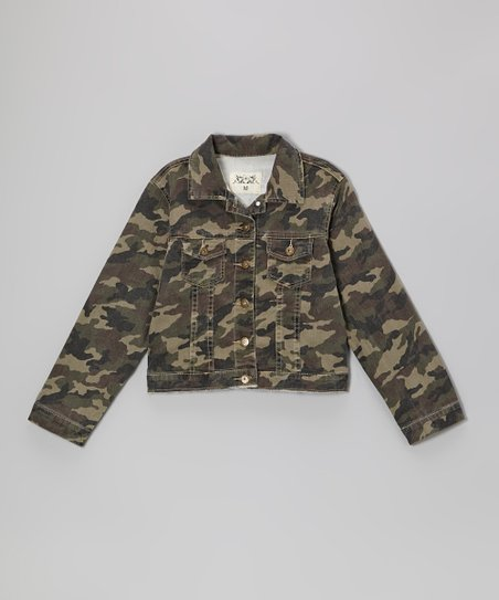 Camo Button-Up Jacket