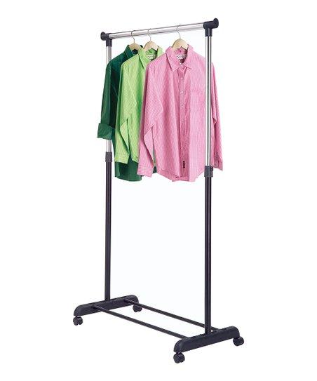 Silver & Black Adjustable Garment Rack