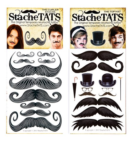 Mr. Monopoly Mustache Tattoo Set