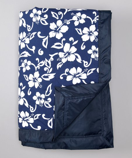 Navy Hawaiian Outdoor Blanket