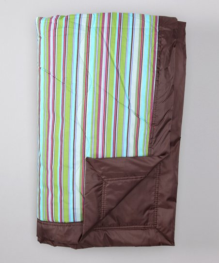 Brown Earth Stripe Outdoor Blanket