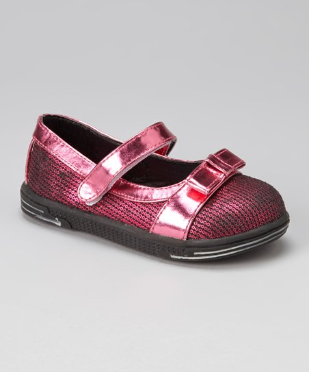 Fuchsia Sequin Mary Jane
