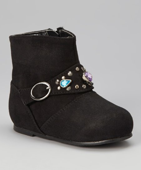 Black Gemstone Boot