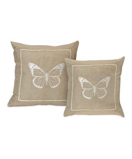 Butterfly Throw Pillow Set