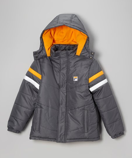 Iron Slate Puffer Coat - Boys
