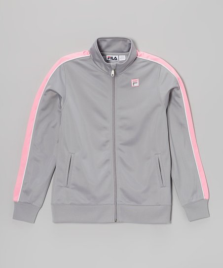 Sleet & Pink Splash Track Jacket - Girls