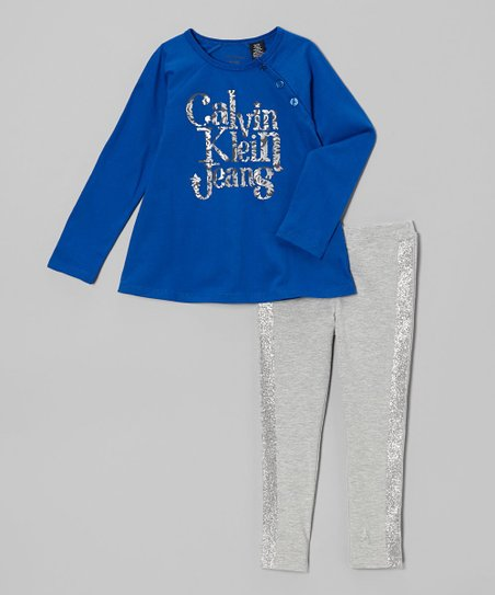 Royal Raglan Tunic & Glitter Leggings - Infant, Toddler & Girls