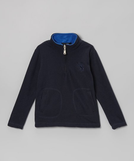 Black & Blue Fleece Pullover - Toddler & Boys