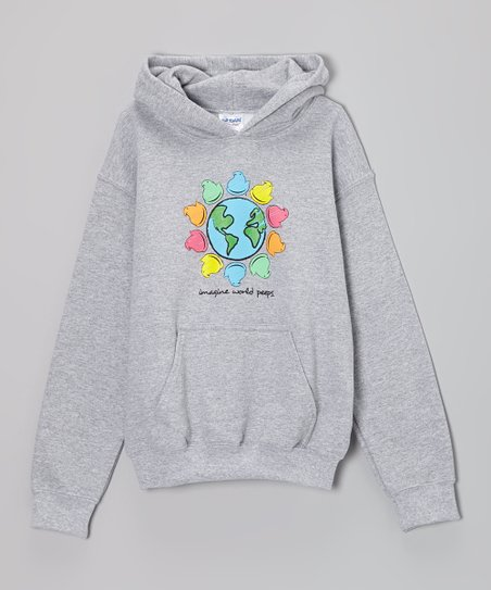 Gray 'Imagine World Peeps' Hoodie – Kids