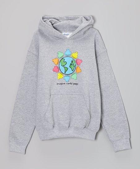 Gray 'Imagine World Peeps' Hoodie – Kids