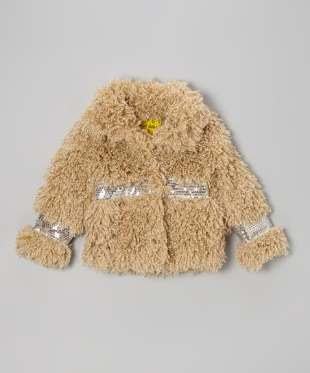 Beige Curly Sue Jacket - Toddler & Girls