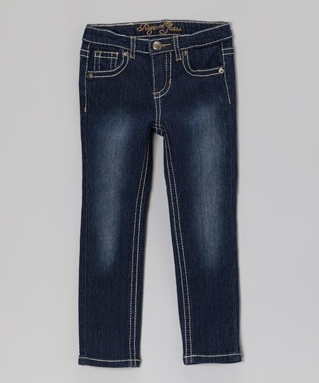Dark Wash Destiny Skinny Jeans - Girls