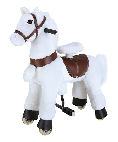White Giddy Up Horse Ride-On