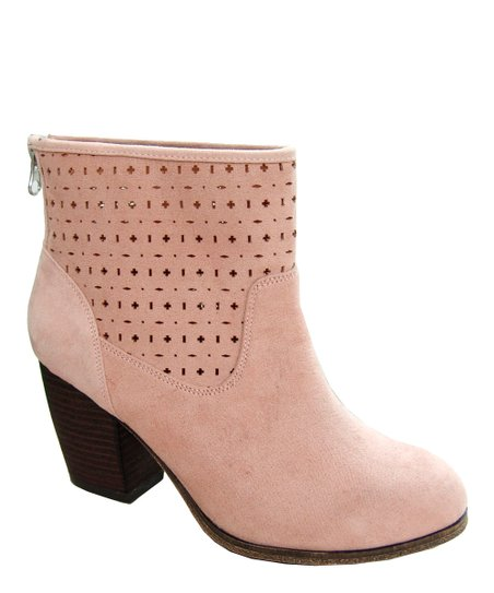 Blush Maze Cutout Ankle Boot