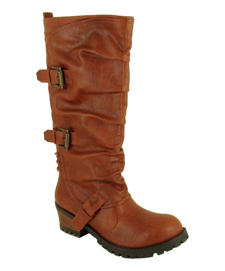 Cognac Reactor Buckle Boot