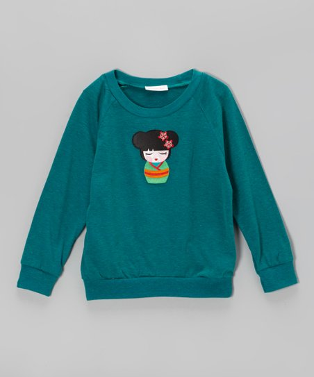 Teal Kawaii Girl Sweater – Infant, Toddler & Girls