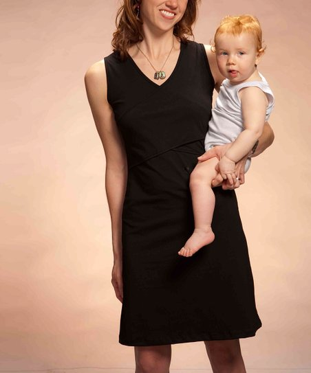 Black Chloe Nursing Dress
