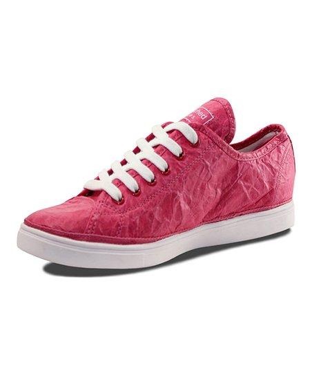 Fuchsia Wrinkle Next Day Low Sneaker