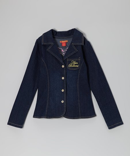 Dark Wash Blazer - Toddler & Girls