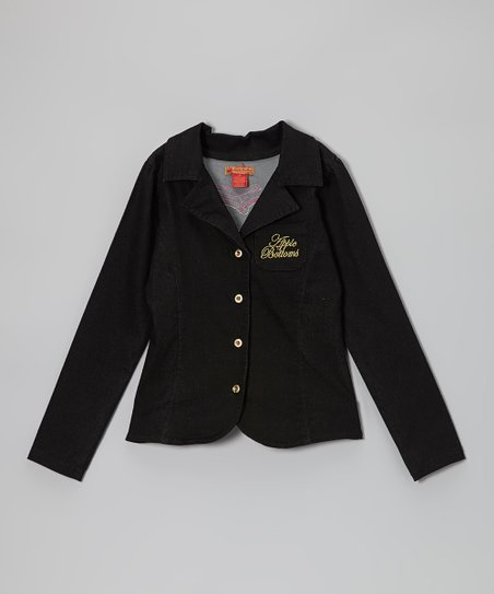 Black Blazer - Toddler & Girls
