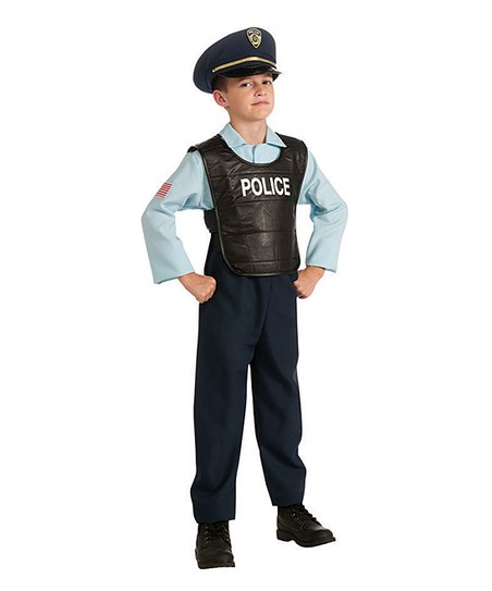 Blue Deluxe Police Officer Dress-Up Set - Boys