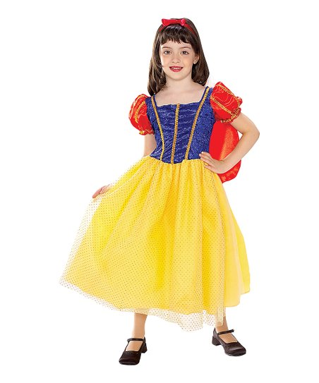 Yellow & Blue Snow White Dress-Up Set - Girls
