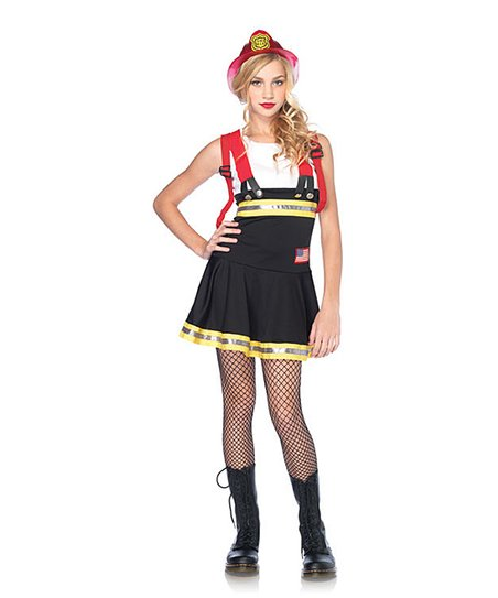 Black Firefighter Dress-Up Set - Girls