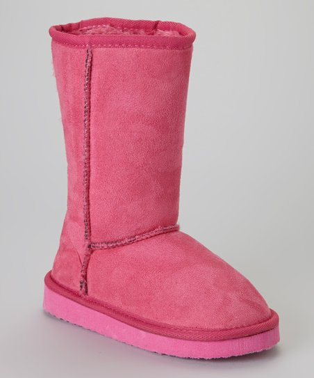 Dark Fuchsia Snow Boot