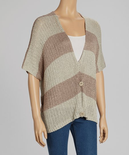Brown Stripe Cardigan