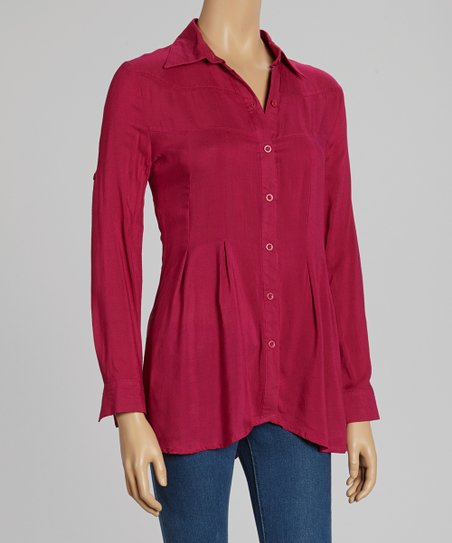 Berry Crisp Button-Up
