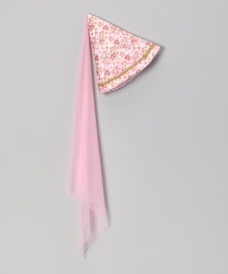 Pink Heart Princess Cone Hat