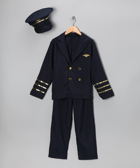 Navy Deluxe Pilot Dress-Up Set - Toddler & Kids