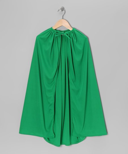 Green Knit Cape - Toddler & Kids