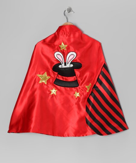 Red Reversible Magician Top Hat Cape