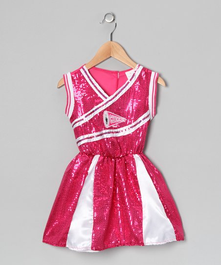 Hot Pink Sequin Cheerleader Dress - Toddler & Girls