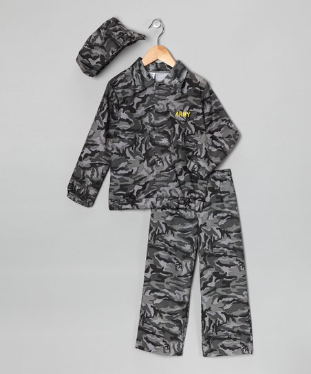 Green Camouflage Soldier Dress-Up Set - Toddler & Boys