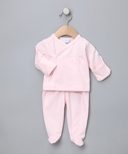 Light Pink Wrap Top & Footie Pants - Infant