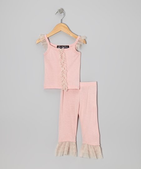 Dusty Pink Ruffle Top & Capri Pants - Infant & Toddler