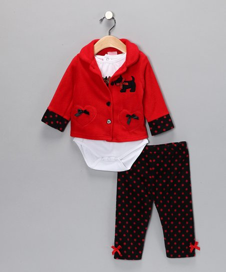 Red Scotty Dog Pants Set - Infant