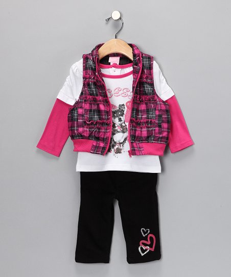 Pink Plaid Pants Set - Infant
