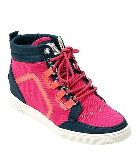 Hot Pink Pixies Hi-Top Sneaker - Women