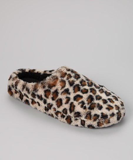 Black & Brown Leopard Slipper