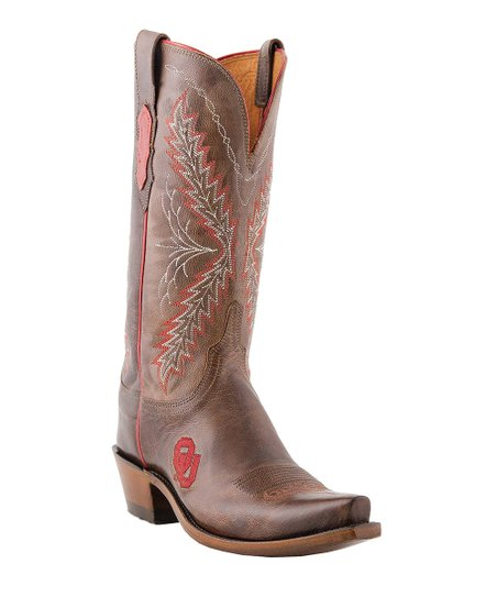 Tan Oklahoma State University Madras Cowboy Boot - Women