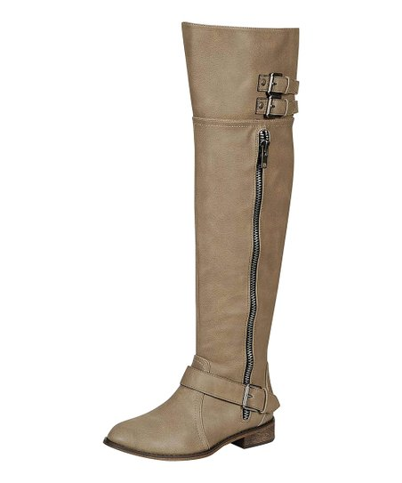 Beige Clayton Riding Boot