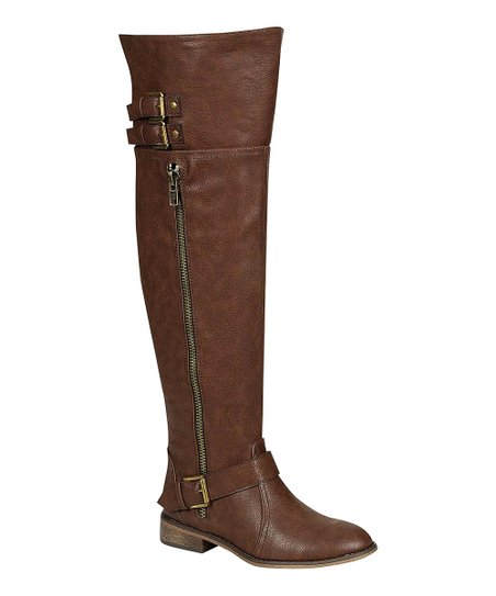 Light Brown Clayton Over-the-Knee Boot