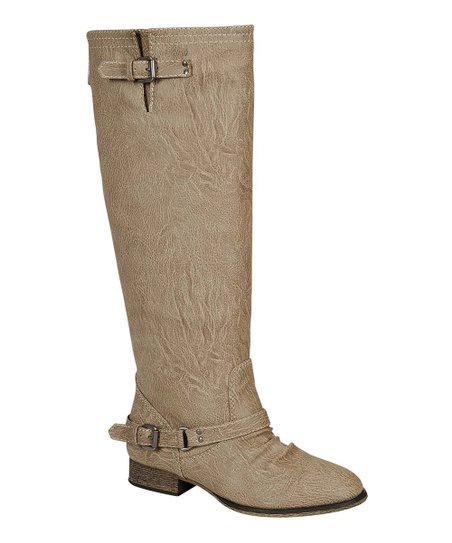 Beige Crocodile Outlaw Boot